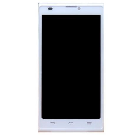 REPUESTO PANTALLA TACTIL + LCD DISPLAY CON MARCO ORIGINAL PARA ZTE BLADE L2  - BLANCA