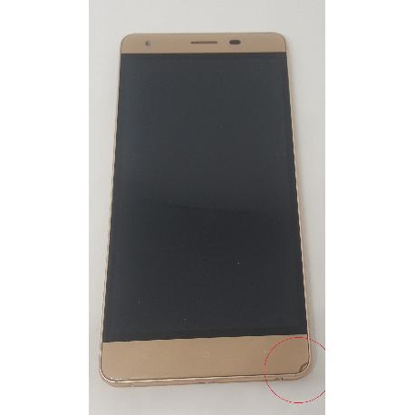 PANTALLA LCD DISPLAY + TACTIL CON MARCO ORIGINAL PARA OUKITEL K6000 PRO ORO - RECUPERADA