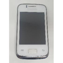 PANTALLA LCD DISPLAY + TACTIL CON MARCO ORIGINAL PARA SAMSUNG Y DUOS S6102 BLANCA - RECUPERADA