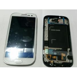 Pantalla Lcd + Tactil Con Marco Original Samsung Galaxy S3 Neo i9300i i9301 9308i 9300i i9301I Blanca