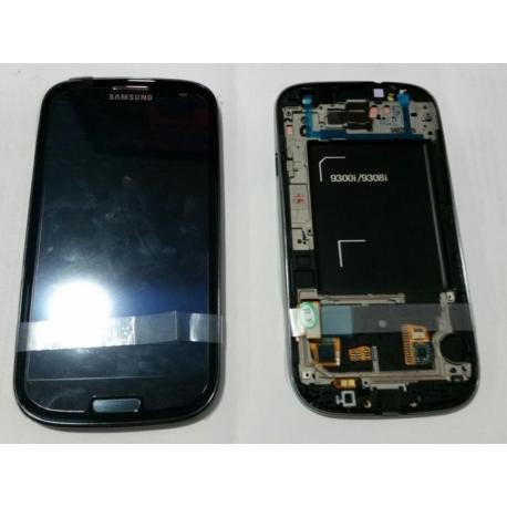 Pantalla Lcd + Tactil Con Marco Original Samsung Galaxy S3 Neo i9300i i9301 9308i 9300i i9301I Negra