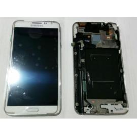 Pantalla Lcd + Tactil con Marco Original Samsung Galaxy note 3 Neo N7505 Blanca LIQUIDACION
