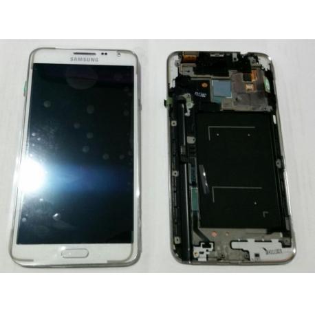 Pantalla Lcd + Tactil con Marco Original Samsung Galaxy note 3 Neo N7505 Blanca