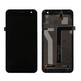PANTALLA LCD + TACTIL CON MARCO ORIGINAL PARA ZTE BLADE A465 - NEGRA