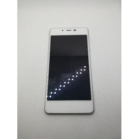 PANTALLA LCD DISPLAY + TACTIL CON MARCO ORIGINAL WIKO HIGHWAY PURE 4G BLANCA - RECUPERADA