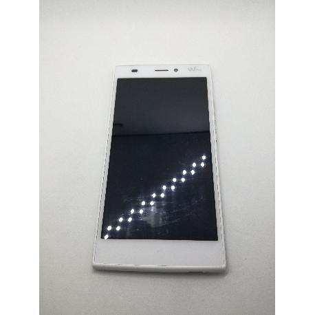 REPUESTO PANTALLA LCD DISPLAY + TACTIL CON MARCO ORIGINAL PARA WIKO RIDGE 4G BLANCA - RECUPERADA