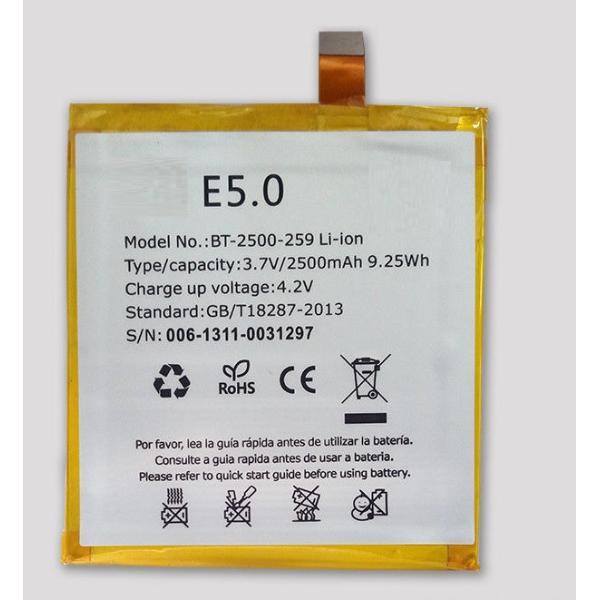 BATERIA PARA BQ E5, E5 FHD DE 2500MAH - COMPATIBLE