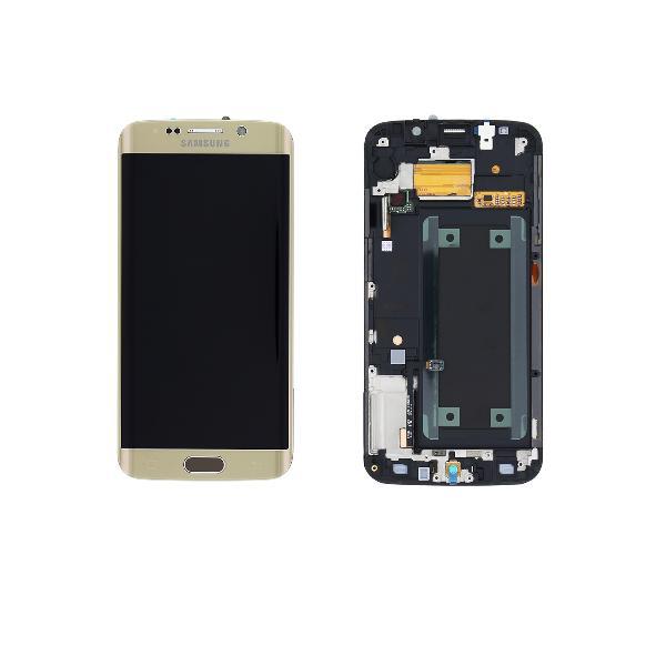 PANTALLA LCD + TACTIL CON MARCO ORIGINAL PARA SAMSUNG GALAXY S6 EDGE SM-G925F DORADA - RECUPERADA
