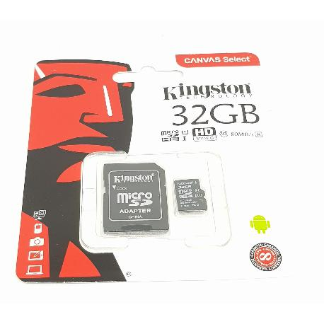 TARJETA DE MEMORIA DE 32 GB CLASE 10 MICRO SD KINGSTON