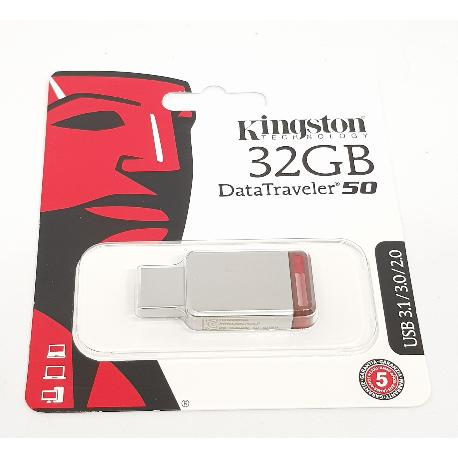 PENDRIVE 32 GB KINGSTON USB 3.1 - ROJO
