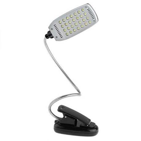 Lámpara Flexible de 28 LEDS con Pinza