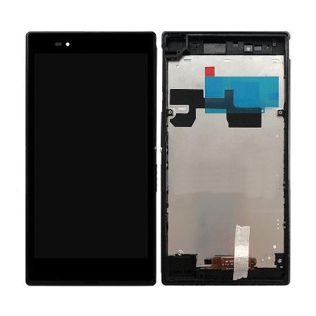 PANTALLA LCD + TACTIL CON MARCO ORIGINAL SONY XPERIA Z ULTRA XL39H NEGRA - RECUPERADA