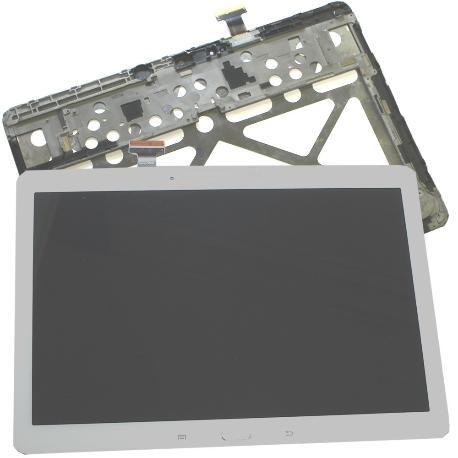 PANTALLA LCD + TACTIL CON MARCO ORIGINAL PARA SAMSUNG GALAXY TAB PRO 10.1 T520 , T525 - BLANCA RECUPERADA