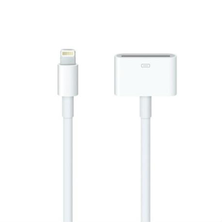 CABLE ADAPTADOR 30 PIN A 8 PIN PARA TU IPHONE 5, 5C, 5S, 6, 6+, 7, 7+, 8, 8+, X, XR, XS, XS MAX
