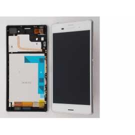Pantalla Completa con Marco para Sony Xperia Z3 - Blanca