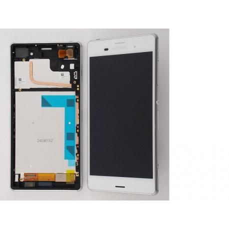 Pantalla Lcd + Tactil Con Marco para Sony Xperia Z3 D6603 D6643 D6653 Blanca