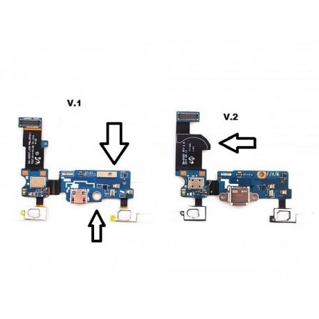 Flex de Carga + Botón Funcion + Microfono Versión 2 Samsung Galaxy S5 mini G800F