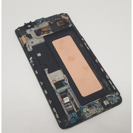 PANTALLA LCD DISPLAY + TACTIL CON MARCO ORIGINAL PARA SAMSUNG SM-N920F GALAXY NOTE 5  ORO - RECUPERADA