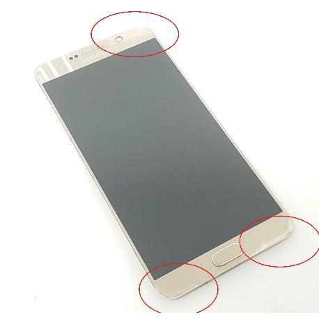 PANTALLA LCD DISPLAY + TACTIL CON MARCO ORIGINAL PARA SAMSUNG SM-N920F GALAXY NOTE 5  ORO - RECUPERADA CON TARA