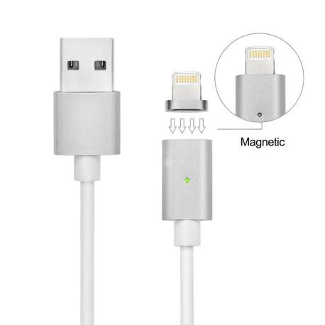 CABLE MAGNÉTICO PARA IPHONE 5, 5S, SE, 6, 6+, 6S, 6S+, 7, 7+, 8, 8+, X, XR, XS, XS MAX