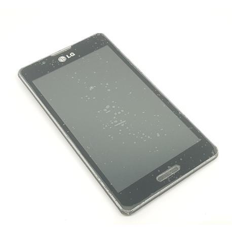 PANTALLA LCD DISPLAY + TACTIL CON MARCO ORIGINAL PARA LG P710 OPTIMUS L7 II NEGRA - RECUPERADA