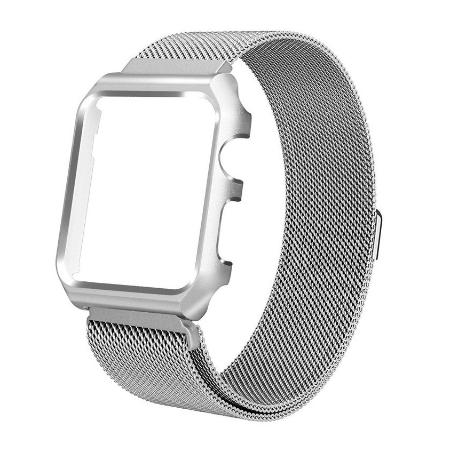 CORREA MAGNETICA PARA APPLE WATCH 4 - 44MM - PLATA
