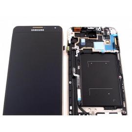 Pantalla Completa Original Samsung Note 3 N9005 Gris con Marco Dorado