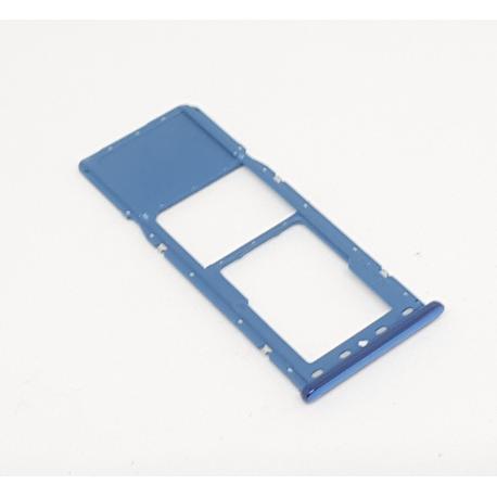SOPORTE BANDEJA SIM + SD ORIGINAL PARA SAMSUNG GALAXY A7 2018 A750F - AZUL