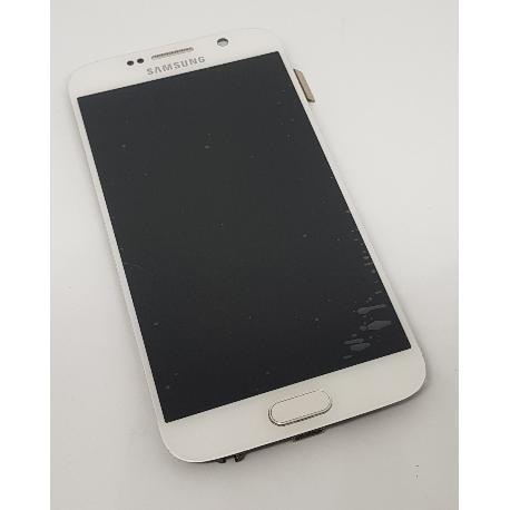 PANTALLA LCD DISPLAY + TÁCTIL CON MARCO PARA SAMSUNG S6 I9600 SM-G920 - BLANCA - RECUPERADA