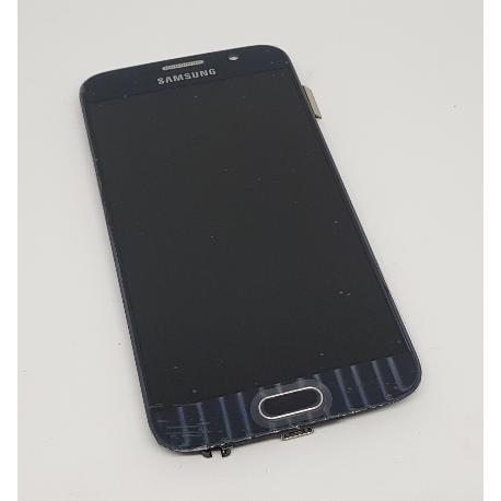 PANTALLA LCD DISPLAY + TÁCTIL CON MARCO PARA SAMSUNG S6 I9600 SM-G920 - AZUL - RECUPERADA