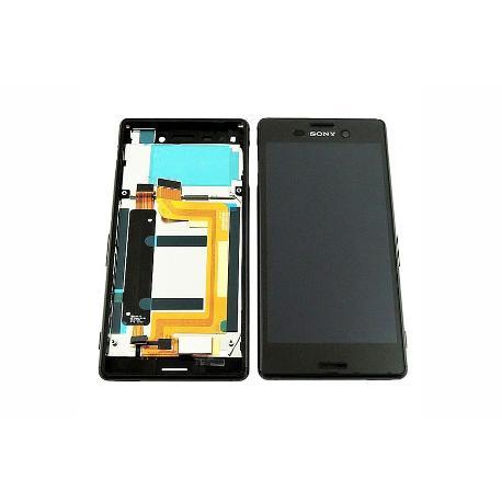 REPUESTO PANTALLA LCD + TACTIL CON MARCO SONY XPERIA M4 AQUA E2303 - NEGRA / DESMONTAJE