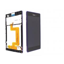 Pantalla Lcd + Tactil con Marco Original Sony Xperia T3 D5102 D5103 D5106 M50W Morada de Desmontaje