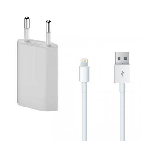 CARGADOR + CABLE LIGHTNING COMPATIBLE PARA IPHONE 5 5S 5C 6 6S 7 8 X XS XR