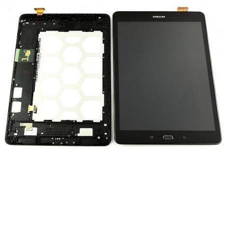 PANTALLA LCD + TACTIL CON MARCO ORIGINAL SAMSUNG GALAXY TAB A  WIFI T550 / GALAXY TAB A 4G T555 NEGRA - RECUPERADA