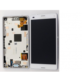 Pantalla LCD Display + Tactil con Marco Sony Xperia Z3 Compact Mini D5803, D5833 - Blanca