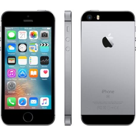 * TELEFONO MOVIL REACONDICIONADO IPHONE SE 128GB - GRIS/NEGRO - GRADO B