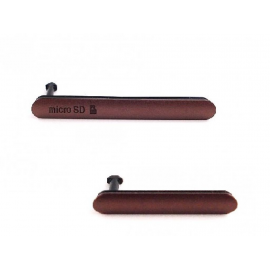 Tapa de Tarjeta Micro SD y Conector de Carga Micro USB para Sony Xperia Z3 (D6603, D6616, D6643, D6653 - Oro