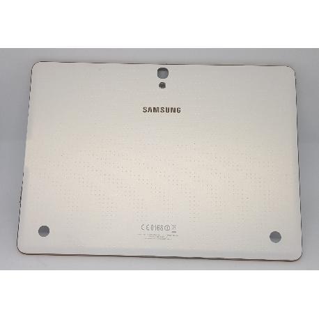 TAPA TRASERA ORIGINAL PARA TABLET SAMSUNG SAMSUNG GALAXY TAB S 10.5 LTE T805 - BLANCA RECUPERADA (SIN MARCO)