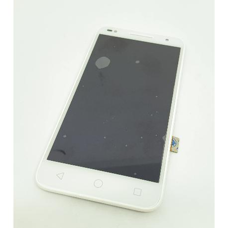 PANTALLA LCD DISPLAY + TACTIL CON MARCO PARA ALCATEL U5 5047 - BLANCA