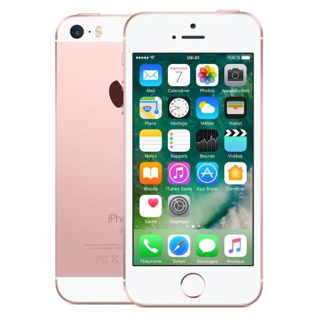 * TELEFONO MOVIL REACONDICIONADO IPHONE SE 64GB ROSA - GRADO B