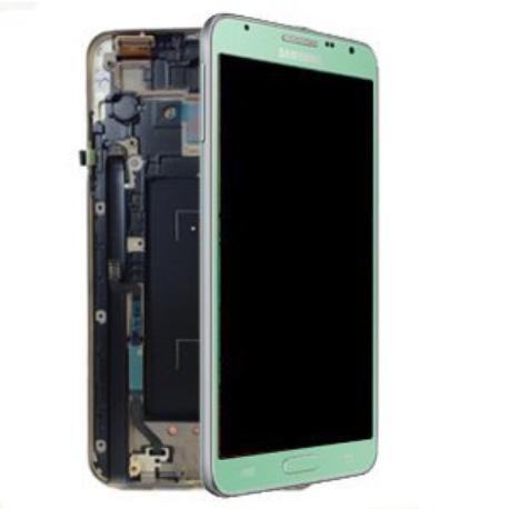 PANTALLA LCD + TACTIL CON MARCO ORIGINAL SAMSUNG GALAXY NOTE 3 NEO N7505 VERDE LIQUIDACION