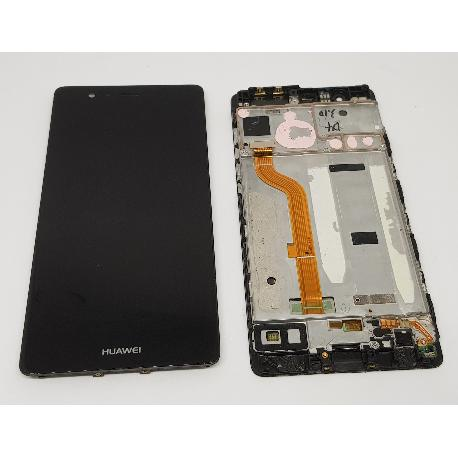 PANTALLA LCD DISPLAY + TACTIL CON MARCO ORIGINAL PARA HUAWEI P9 NEGRA - RECUPERADA