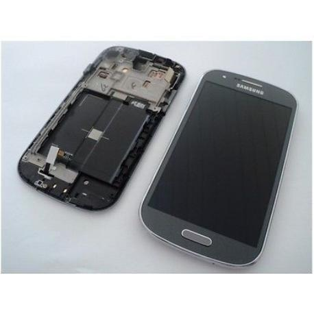 PANTALLA LCD DISPLAY + TACTIL CON MARCO ORIGINAL PARA SAMSUNG GALAXY EXPRESS I8730  GRIS - REMANUFACTURADA