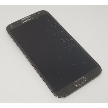 PANTALLA TACTIL + LCD DISPLAY CON MARCO ORIGINAL PARA SAMSUNG NOTE 2 N7100 GRIS - USADA