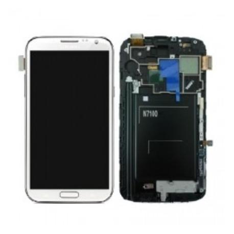 PANTALLA TACTIL + LCD DISPLAY CON MARCO ORIGINAL PARA SAMSUNG NOTE 2 N7100 BLANCA - USADA
