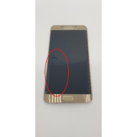 PANTALLA LCD DISPLAY + TACTIL CON MARCO ORIGINAL PARA SAMSUNG GALAXY S6 EDGE PLUS G928F ORO - RECUPERADA CON TARA