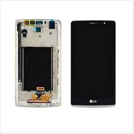 PANTALLA LCD DISPLAY + TACTIL CON MARCO PLATA PARA LG G4 STYLUS H635 - NEGRA