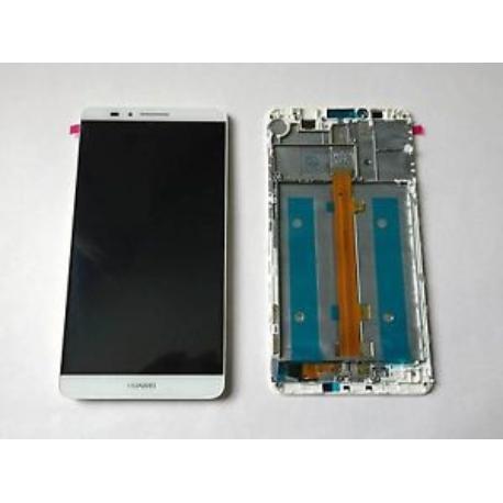 PANTALLA LCD DISPLAY + TACTIL CON MARCO PARA HUAWEI MATE 7 - BLANCA