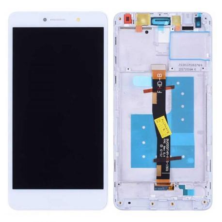 PANTALLA LCD DISPLAY + TACTIL CON MARCO PARA HUAWEI HONOR 6X - BLANCA