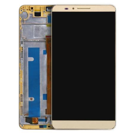 PANTALLA LCD DISPLAY + TACTIL CON MARCO PARA HUAWEI MATE 7 - ORO